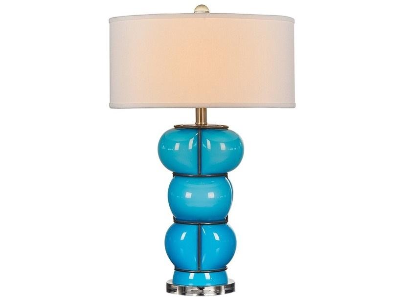 Светильник настольный BubleДекоративные лампы<br>Настольный светильник из новой коллекции дизайнера Thomas Bina. Оригинальные форма и дизайн не оставят равнодушными, если Вы ищите для Вашего интерьера лучшее и особенное.<br><br>Цоколь: Е-27, max 75W<br><br>Material: Стекло<br>Высота см: 77