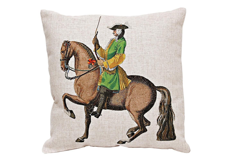 Декоративная подушка «Верховая езда, Урок № 12»