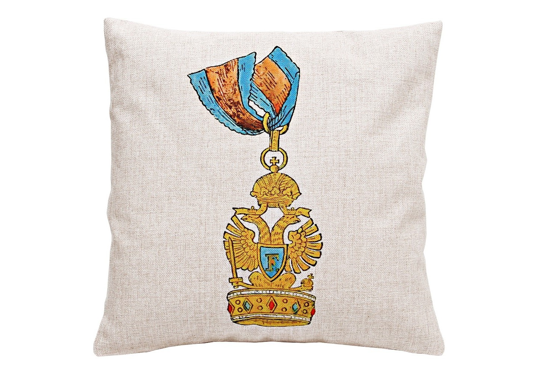 Декоративная подушка «Орден Железной короны, Ломбардия»