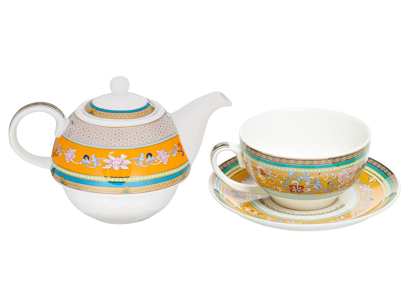 Набор для чая (3 предмета)Чайные сервизы<br>В наборе чайник заварочный 12х11х11, чашка 6,5х11х11, блюдце 2х16х16.<br><br>Material: Фарфор<br>Width см: 11<br>Depth см: 11<br>Height см: 12