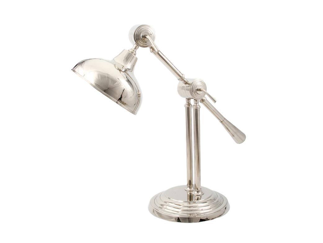 Светильник настольный KingДекоративные лампы<br>Этот настольный светильник создан специально для того, чтобы, включая его за рабочим столом, Вы смогли не только грамотно осветить пространство, но полностью погрузились в особую атмосферу творчества.<br><br>Цоколь: Е-27, max 40W<br><br>Material: Металл<br>Length см: 27<br>Width см: 27<br>Height см: 56