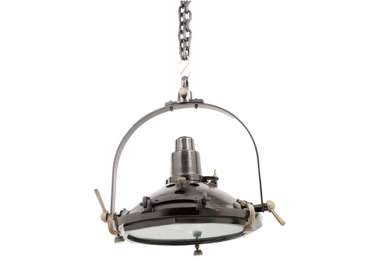 Светильник подвесной AntonyПодвесные светильники<br>Винтажный потолочный светильник из темного металла с множеством отверстий, шурупов и креплений удачно впишется в интерьер пространства в стиле лофт или в качестве декора загородного дома в стиле кантри.<br><br>Цоколь: Е-27, max 40W<br><br>Material: Металл<br>Length см: None<br>Width см: None<br>Depth см: None<br>Height см: 51.0<br>Diameter см: 48.0