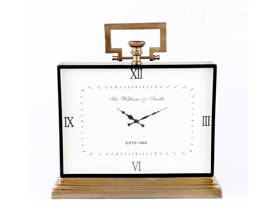 Часы настольные WilliamНастольные часы<br>Шикарные настольные часы могут стать отличным подарком дорогому и близкому человеку в кабинет или гостиную.<br><br>Material: Металл<br>Высота см: 63<br>Глубина см: 18
