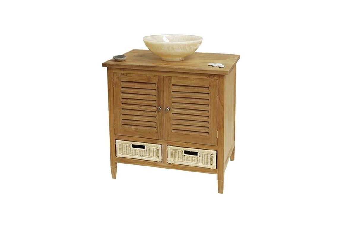 Тумба LombokТумбы для ванной<br>Двухстворчатая тумба для полотенец и аксессуаров для ванной, бани или сауны выполнена из влагостойкого тикового дерева. Оснащена двумя ящиками.<br><br>Material: Тик<br>Length см: None<br>Width см: 80.0<br>Depth см: 55.0<br>Height см: 84.0<br>Diameter см: None