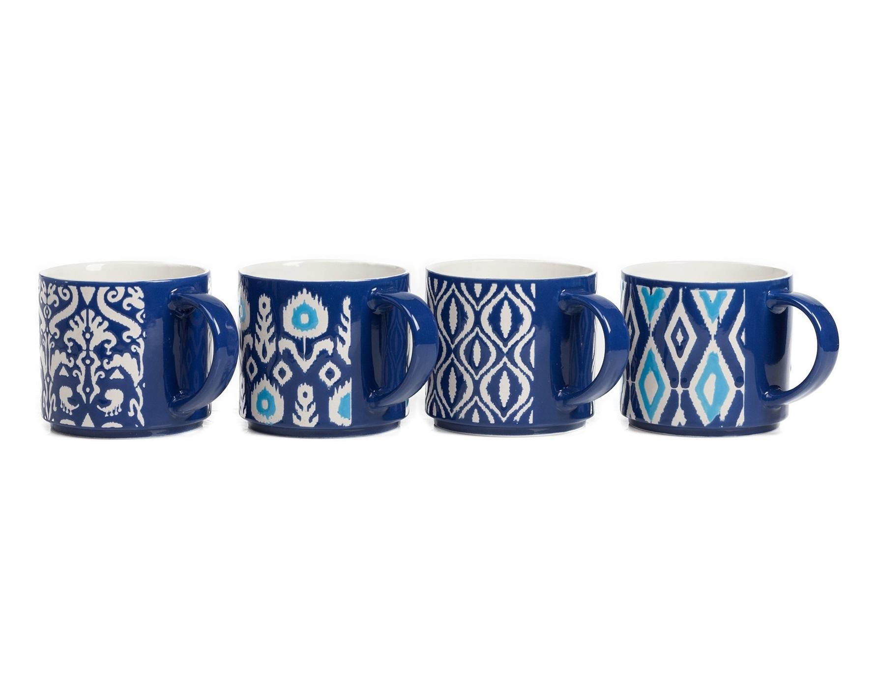 Набор чашек Charmer (4 шт)Чайные пары, чашки и кружки<br><br><br>Material: Керамика<br>Length см: None<br>Width см: 14<br>Depth см: 10<br>Height см: 9