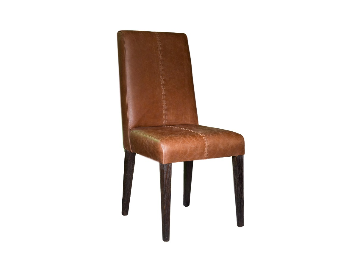 Стул HimalayasОбеденные стулья<br>Классический кожаный стул с высокой спинкой, тиковый каркаc. Цвет кожи подбирается, возможны варианты прошивок. Ножки могут быть натурального или коричневого цвета.<br><br>Material: Кожа<br>Width см: 48<br>Depth см: 50<br>Height см: 100