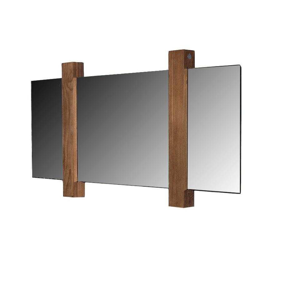 Зеркало MatahariНастенные зеркала<br>Эко-дизайн сегодня в неоспоримом тренде. Особенно органично этот стиль смотрится в ванной комнате, где к живой растительности и прочим натуральным материалам добавляется стихия воды. Именно для такого интерьера предназначено зеркало MATAHARI, выполненное из натурального тика. Отражающая поверхность свободно перемещается внутри деревянных перегородок, поэтому вы сами можете выбирать их расположение и менять внешний вид зеркала.<br><br>Material: Тик<br>Length см: None<br>Width см: 120<br>Depth см: 6<br>Height см: 60<br>Diameter см: None