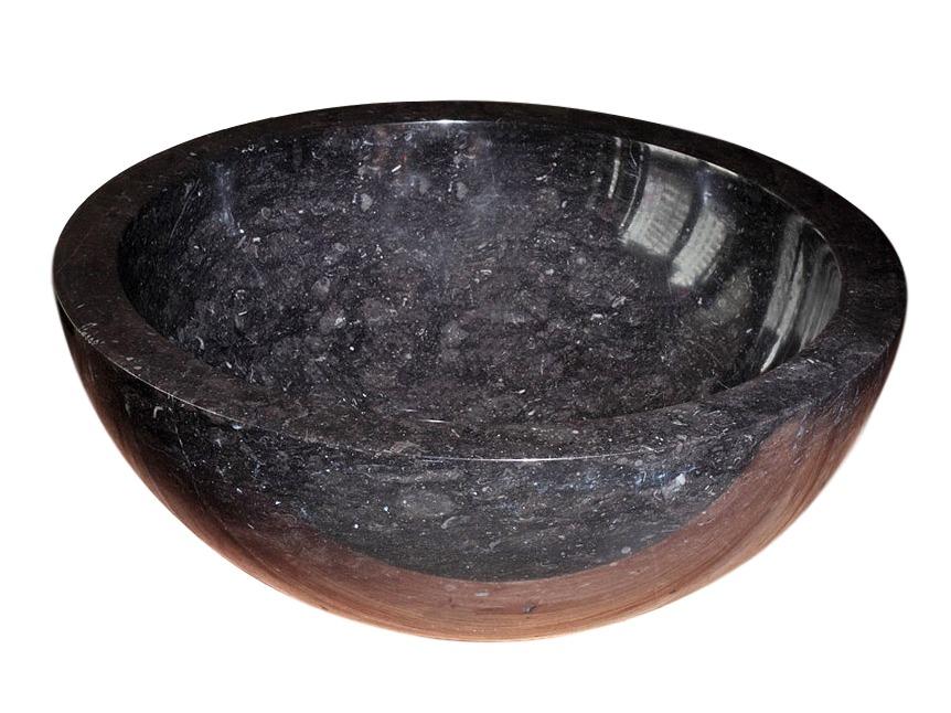 """Раковина из натурального камня """"Bou Black"""""""