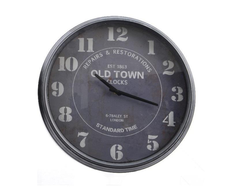 Часы Old townНастенные часы<br>Механизм: кварцевый<br><br>Material: Металл<br>Width см: None<br>Depth см: 7<br>Height см: None<br>Diameter см: 40