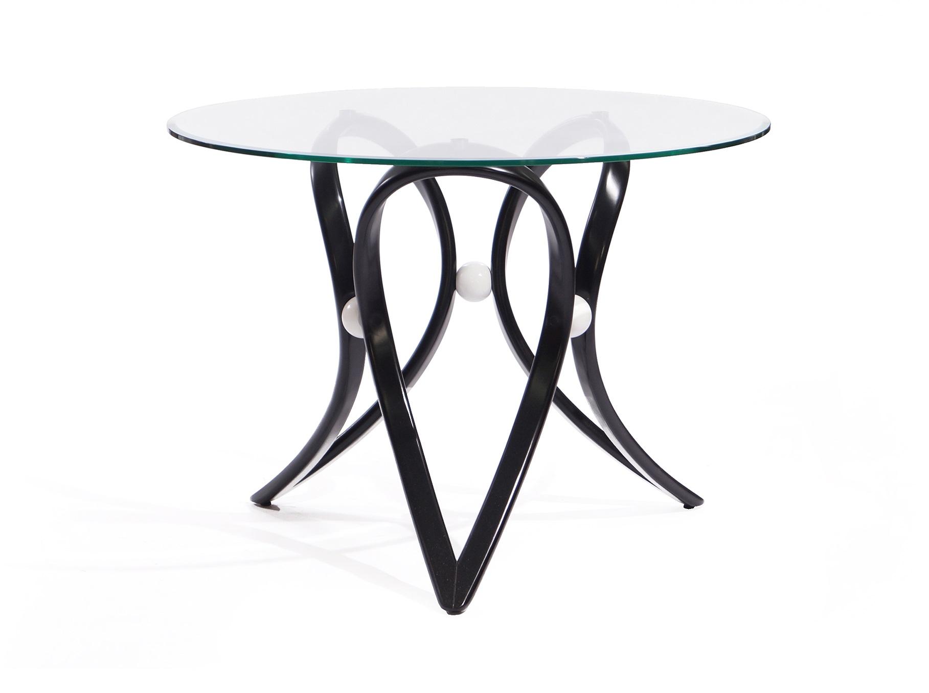 Стол обеденный  Apriori  VОбеденные столы<br>Обеденный круглый стол с изящным основанием из натурального дерева.&amp;amp;nbsp;&amp;lt;div&amp;gt;Материал: натуральная береза (9т венге), стекло прозрачное.&amp;lt;/div&amp;gt;<br><br>Material: Стекло<br>Высота см: 75.0