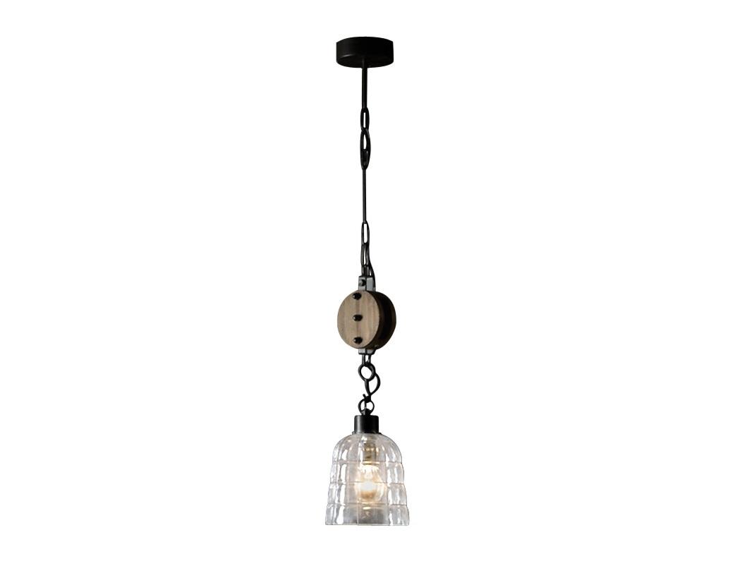 Подвесной светильникПодвесные светильники<br>Подвесной светильник из коллекции Estiba в винтажно-индустриальном стиле. Плафон из выдувного прозрачного стекла с металлическим каркасом. Декоративный шкив из дерева ели и тополя с патиной под старину. Цепь и каркас из металла черного цвета. Высота светильника регулируется до 120 см.&amp;lt;div&amp;gt;&amp;lt;br&amp;gt;&amp;lt;/div&amp;gt;&amp;lt;div&amp;gt;&amp;lt;div&amp;gt;Тип цоколя: Е27&amp;lt;/div&amp;gt;&amp;lt;div&amp;gt;Мощность: 60W&amp;lt;/div&amp;gt;&amp;lt;div&amp;gt;Кол-во ламп: 1 (нет в комплекте)&amp;lt;/div&amp;gt;&amp;lt;/div&amp;gt;<br><br>Material: Металл<br>Высота см: 57