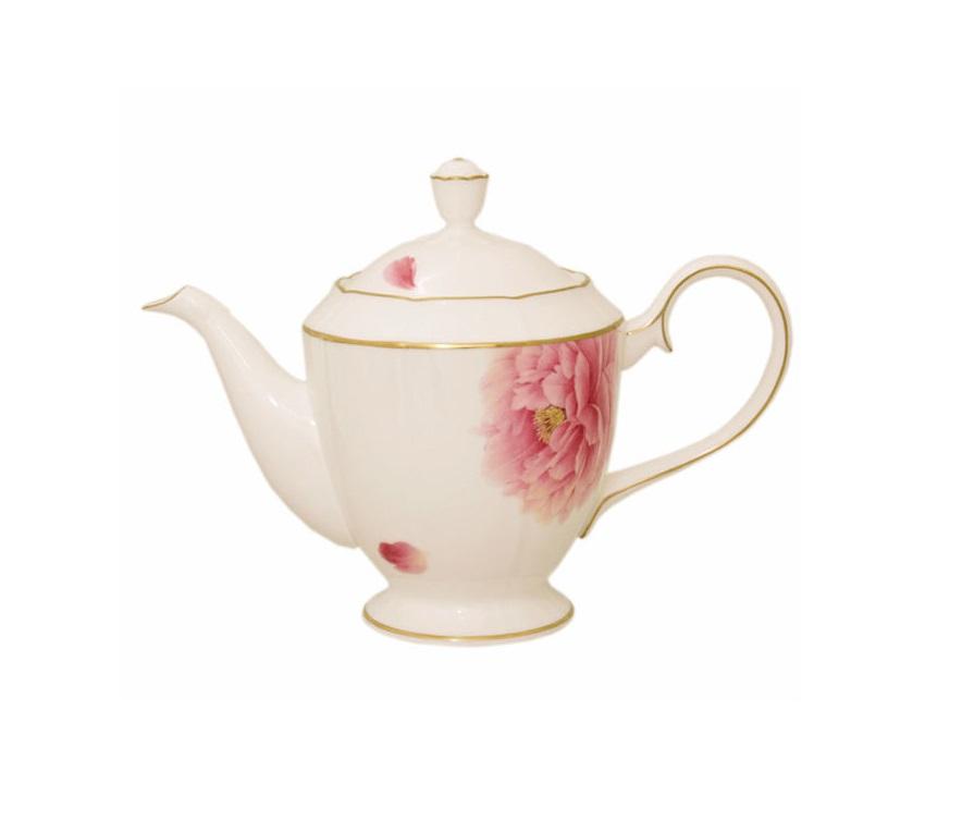 Чайник с крышкой ПионЧайники<br><br><br>Material: Фарфор