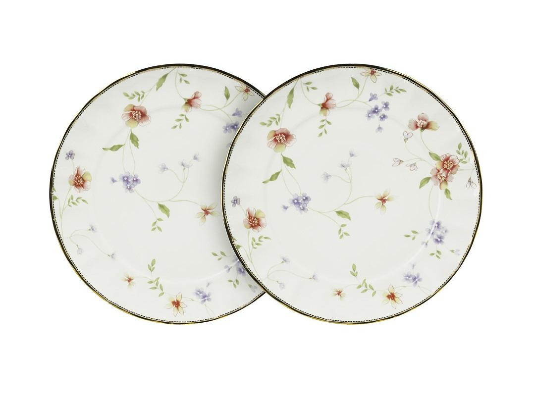 Набор тарелок Флёр (2шт)Тарелки<br><br><br>Material: Фарфор<br>Глубина см: 3