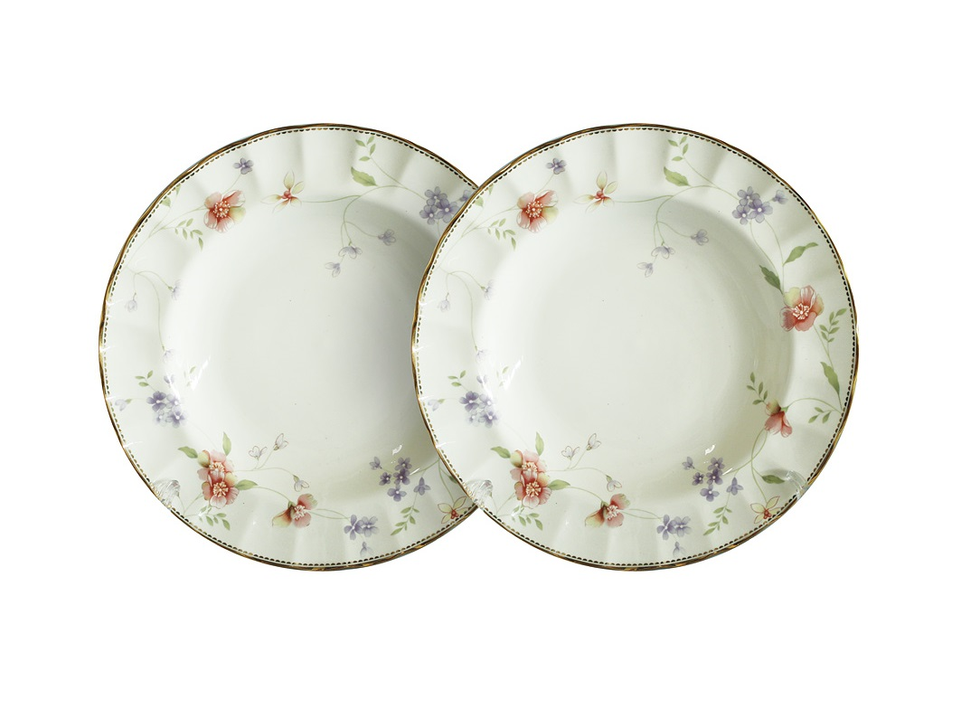 Набор суповых тарелок Флёр (2шт)Тарелки<br><br><br>Material: Фарфор<br>Глубина см: 3
