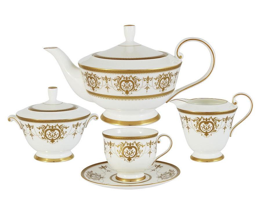 """Чайный сервиз из 17 предметов на 6 персон """"Тиара Голд"""""""