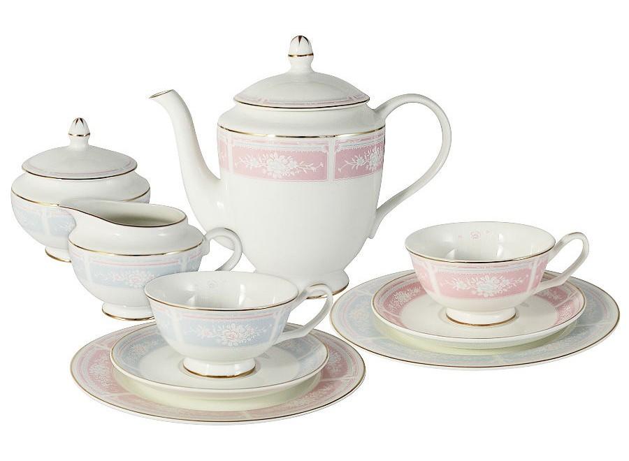 Emily Чайный сервиз  21 предмет на 6 персон Рашель emily чайный сервиз 21 предмет на 6 персон венеция