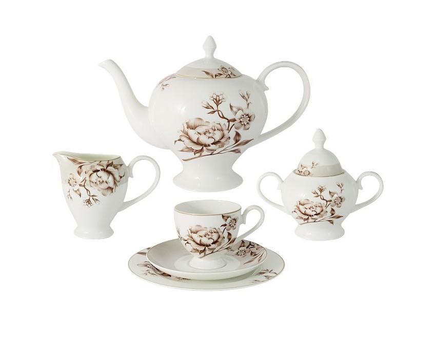 Emily Чайный сервиз  21 предмет на 6 персон Стефания emily чайный сервиз 21 предмет на 6 персон венеция
