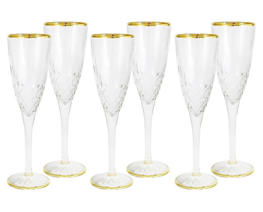 Набор бокалов для шампанского Уэльс (6 шт)Бокалы<br>&amp;lt;span style=&amp;quot;font-size: 14px;&amp;quot;&amp;gt;Объем: 0,125 л.&amp;lt;/span&amp;gt;<br><br>Material: Стекло