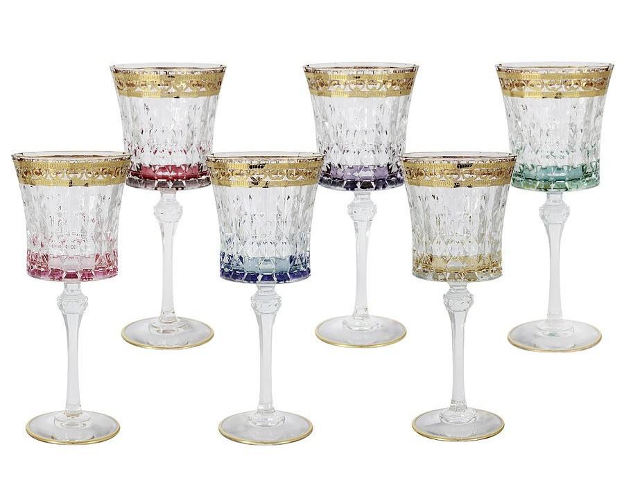 Набор бокалов для вина Цветная Флоренция  (6 шт)Бокалы<br>&amp;lt;span style=&amp;quot;font-size: 14px;&amp;quot;&amp;gt;Объем: 0,27 л.&amp;lt;/span&amp;gt;<br><br>Material: Стекло