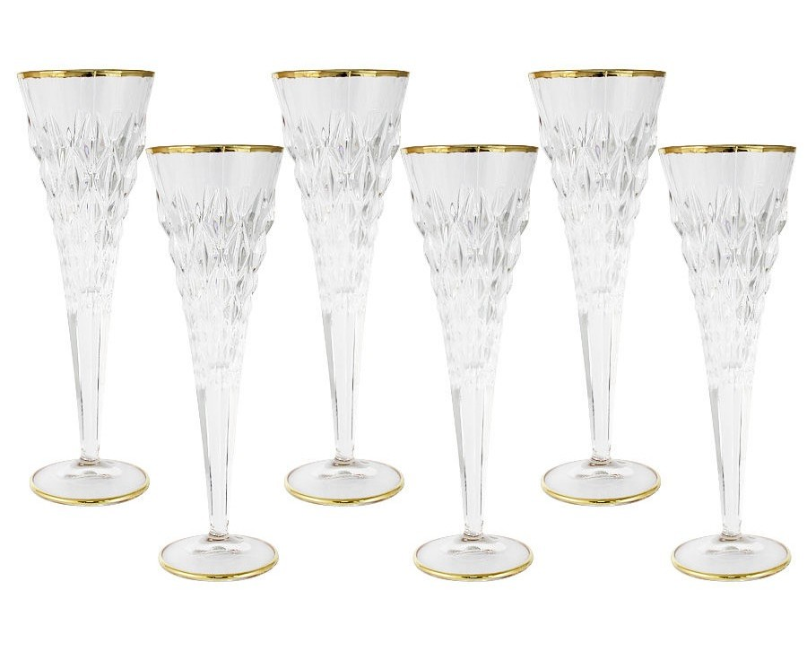 Набор бокалов для шампанского Энигма (6 шт)Бокалы<br>&amp;lt;span style=&amp;quot;font-size: 14px;&amp;quot;&amp;gt;Объем: 0,175 л.&amp;lt;/span&amp;gt;<br><br>Material: Стекло<br>Высота см: 24