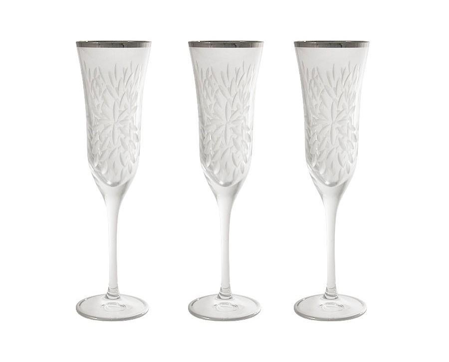 Бокалы для шампанского Умбрия Матовая - платина (6 шт)Бокалы<br>&amp;lt;span style=&amp;quot;font-size: 14px;&amp;quot;&amp;gt;Объем: 0,15 л.&amp;lt;/span&amp;gt;<br><br>Material: Хрусталь<br>Height см: 24.3<br>Diameter см: 6.5
