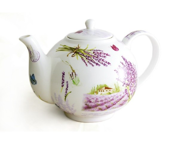 Чайник с ситечком Букет лавандыЧайники<br>Объем: 1,1 литр.<br><br>Material: Фарфор