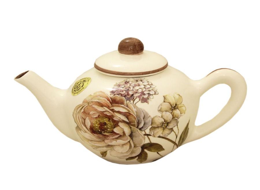 Чайник Сады ФлоренцииЧайники<br>Объем: 0,65 л.<br><br>Material: Керамика<br>Ширина см: 23<br>Высота см: 12<br>Глубина см: 13
