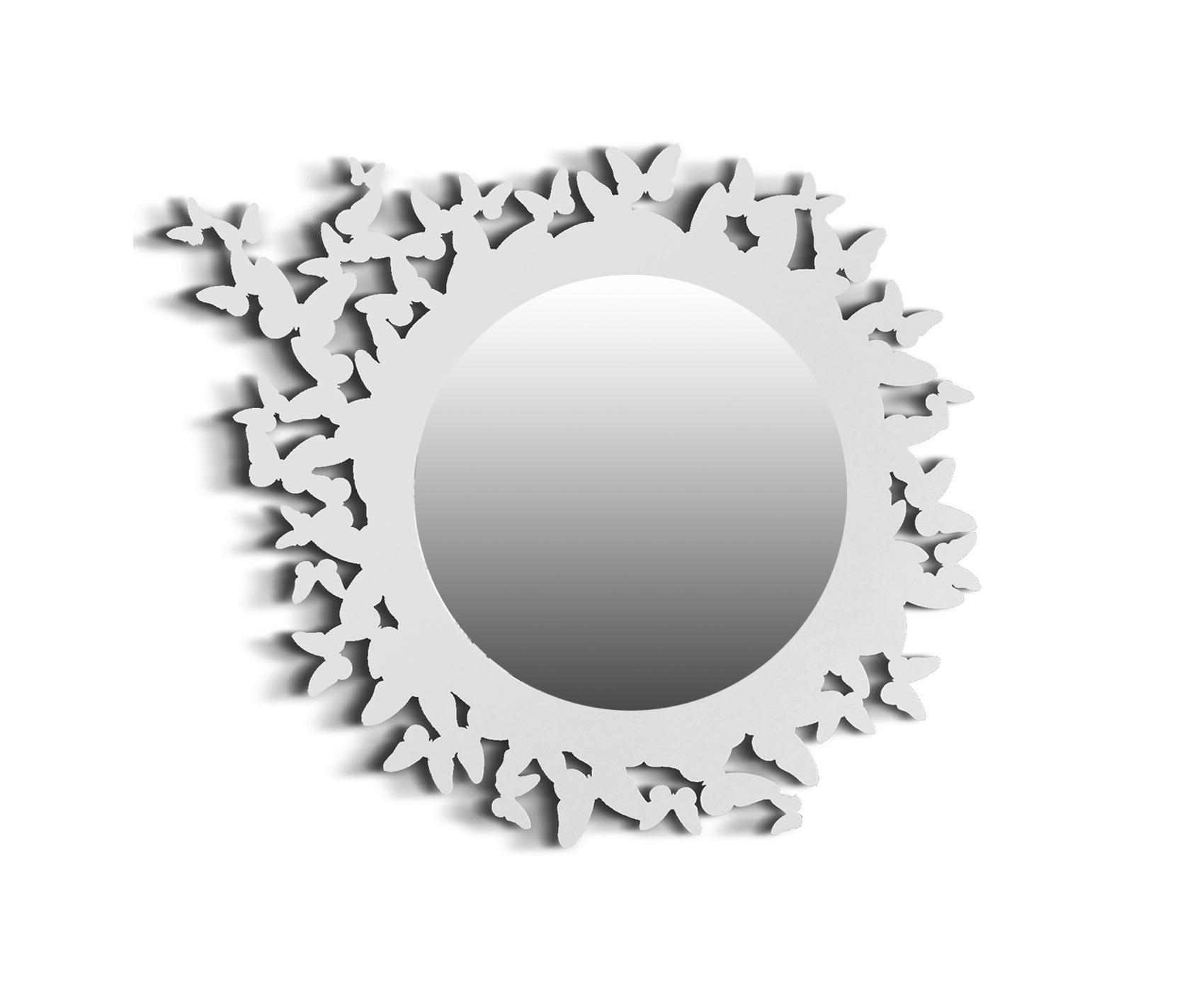 Зеркало BUTTERFLYНастенные зеркала<br>Настенное зеркало BUTTERFLY WHITE станет стильным украшением <br>современного интерьера, придавая ему неповторимую изысканность и <br>очарование лета. Порхающие бабочки, выполняющие функцию декоративного <br>оформления, добавят ощущение легкости и летнего настроения в уютную <br>обстановку Вашего дома.<br>Декоративное зеркало BUTTERFLY в металлической раме с креплением доступно в черном и белом цветах.<br><br>Material: Сталь<br>Length см: None<br>Width см: 69<br>Depth см: 7<br>Height см: 55<br>Diameter см: None