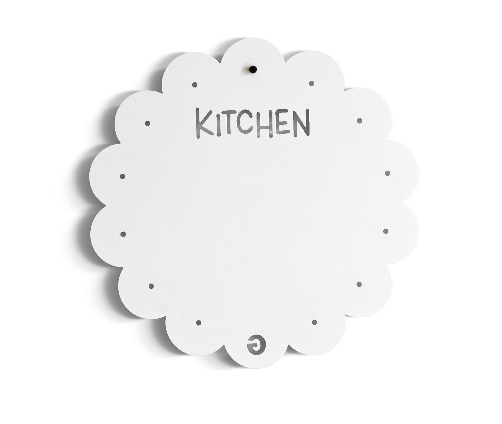 Доска для магнитов KITCHENАксессуары для кухни<br>Доска для магнитов&amp;amp;nbsp;KITCHEN является оригинальным и стильным решением для заметок, сообщений, уведомлений и просто в качестве необычного предмета декора в Вашей кухне. Этот предмет интерьера идеально подходит для любых помещений - домов, офисов, детских комнат, кухонь. <br><br>Доска для магнитов&amp;amp;nbsp;KITCHEN&amp;amp;nbsp;легко<br> крепится к стене с помощью дюбелей которые Вы найдете в комплекте. Вы <br>также, можете приклеить доску для магнитов, используя специальный, двусторонний скотч или подвесить, используя декоративную веревку контрастного цвета (не идет в комплекте).<br><br>Material: Сталь