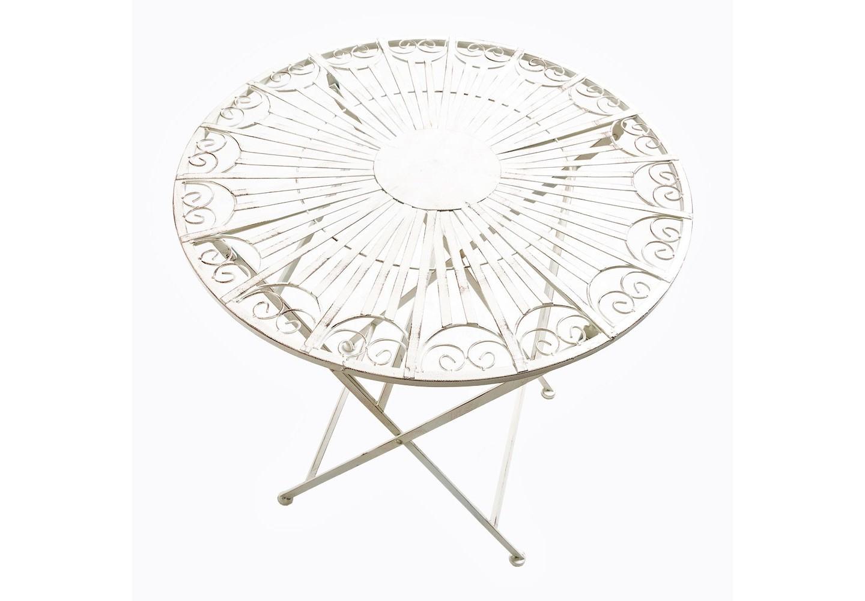 Складной столик для завтрака «Тюильри» (белый антик)Кофейные столики<br>&amp;lt;div&amp;gt;&amp;lt;div&amp;gt;Круглый столик для завтрака «Тюильри», благодаря своим уникальным эстетическим качествам, внесёт в интерьер Вашего жилища новые оттенки. Расположенный в любом помещении, этот столик сразу повысит его статус, создаст утонченную атмосферу, выгодно подчеркнув вкус владельца. Столик «Тюильри» прочен и функционален, надежен и долговечен. Абсолютно универсальный белый цвет гармонично сочетается с любыми цветовыми оттенками, он многогранен, ему под силу сыграть как главную, так и вспомогательную роль. Мебель изготовлена из материала, устойчивого к переменам климата и воздействию ультрафиолетовых лучей, поэтому можно без опаски оставлять мебель под открытым небом, и даже под дождем. Поставляется в сложенном виде.&amp;amp;nbsp;&amp;lt;/div&amp;gt;&amp;lt;div&amp;gt;&amp;lt;br&amp;gt;&amp;lt;/div&amp;gt;&amp;lt;div&amp;gt;Вес 8 кг.&amp;lt;/div&amp;gt;<br><br>&amp;lt;iframe width=&amp;quot;640&amp;quot; height=&amp;quot;360&amp;quot; src=&amp;quot;https://www.youtube.com/embed/0eOctMaBEaI&amp;quot; frameborder=&amp;quot;0&amp;quot; allowfullscreen=&amp;quot;&amp;quot;&amp;gt;&amp;lt;/iframe&amp;gt;<br><br>&amp;lt;/div&amp;gt;<br><br>Material: Железо<br>Высота см: 75.0