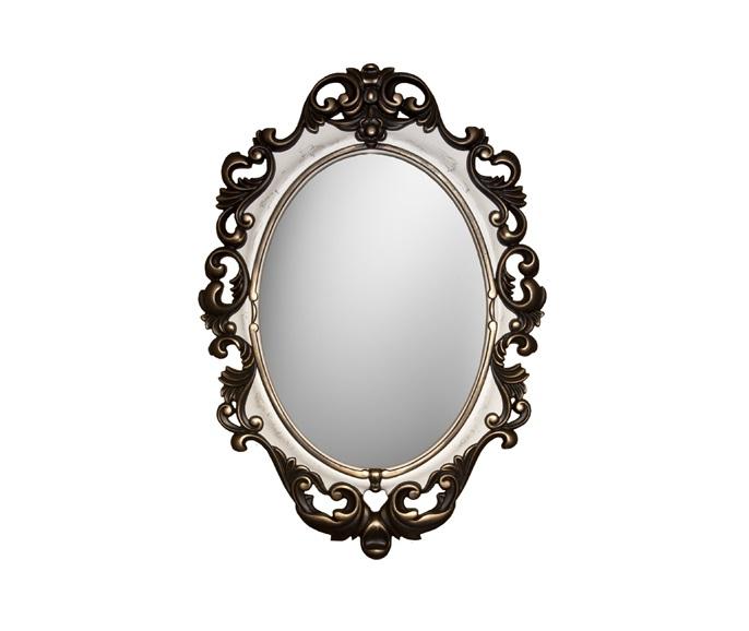 Зеркало ВИНТАЖНастенные зеркала<br>&amp;lt;div&amp;gt;Это необычное зеркало в овальной раме способно придать интерьеру винтажную и даже слегка мистическую нотку. Обрамление выполнено из мебельного пенополиуретана, который отлично повторяет сложные фактуры металла, дерева и других материалов. Отдельного внимания заслуживает покраска: по светлому фону ближе к зеркальной поверхности расходится множество трещинок. Этот эффект создан при помощи специального кракелюрового лака. Внешняя часть багета, эффектная резьба, окрашена в темный древесный оттенок, смягченный позолотой.&amp;lt;/div&amp;gt;&amp;lt;div&amp;gt;&amp;lt;br&amp;gt;&amp;lt;/div&amp;gt;&amp;lt;div&amp;gt;Цвет:&amp;amp;nbsp;Венге Слоновая кость Золото Кракелюр&amp;lt;/div&amp;gt;<br><br>Material: Полиуретан<br>Ширина см: 67<br>Высота см: 96<br>Глубина см: 4
