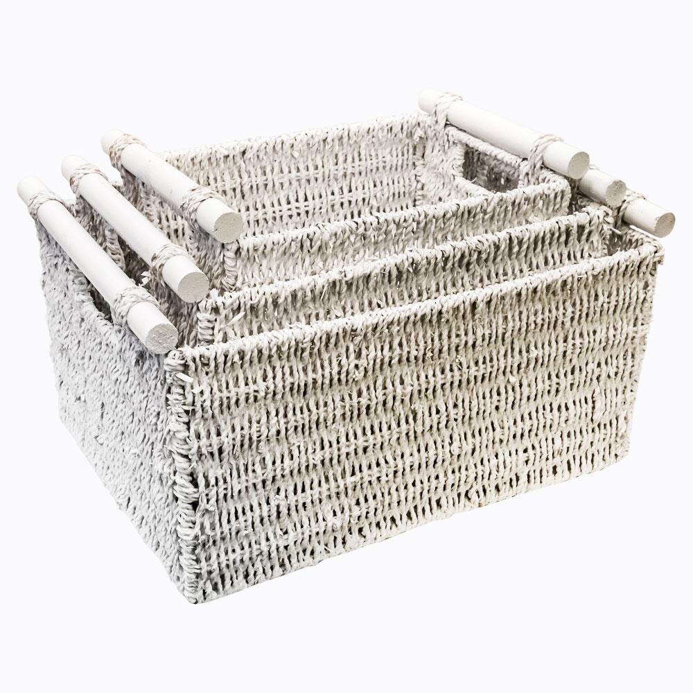Object Desire Трио белых корзин «Лилль»