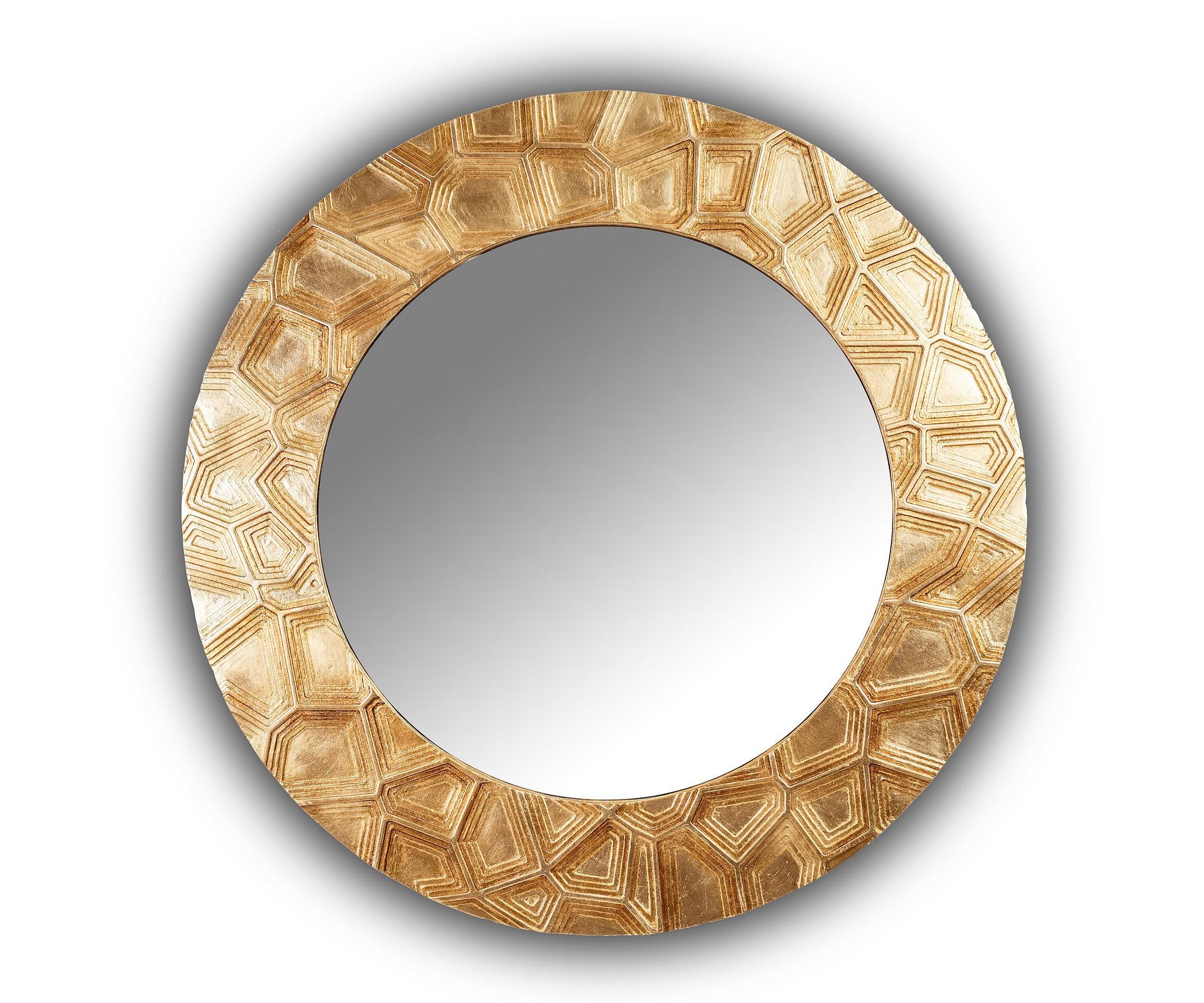 Зеркало FASHION GROOVEНастенные зеркала<br>Данный вариант представлен в золотом цвете.<br><br>Material: Дерево<br>Depth см: 4.2<br>Diameter см: 90