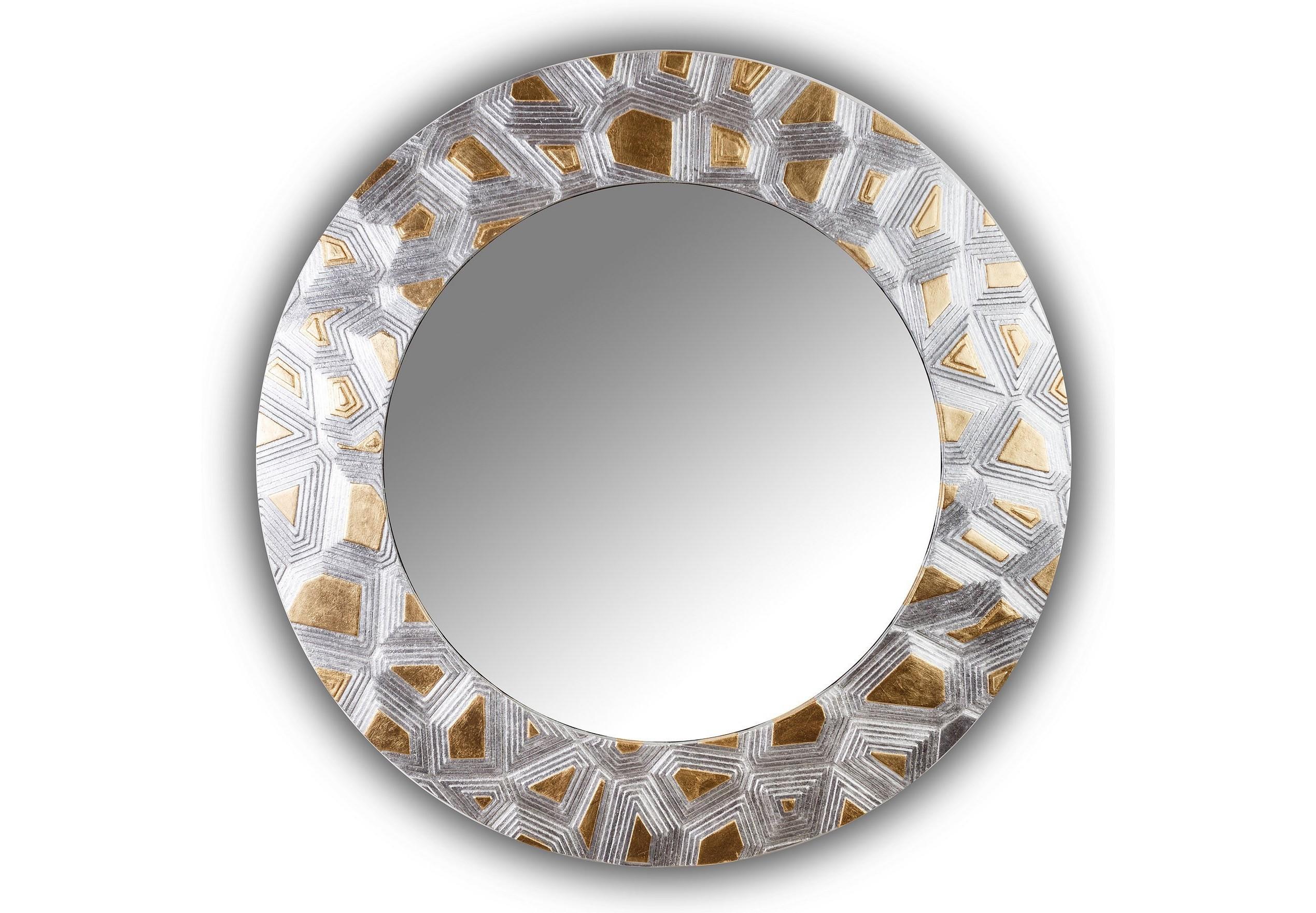 Зеркало FASHION HOLLOWНастенные зеркала<br>Данный вариант представлен в золотом и серебряном цвете.<br><br>Material: Дерево<br>Глубина см: 3
