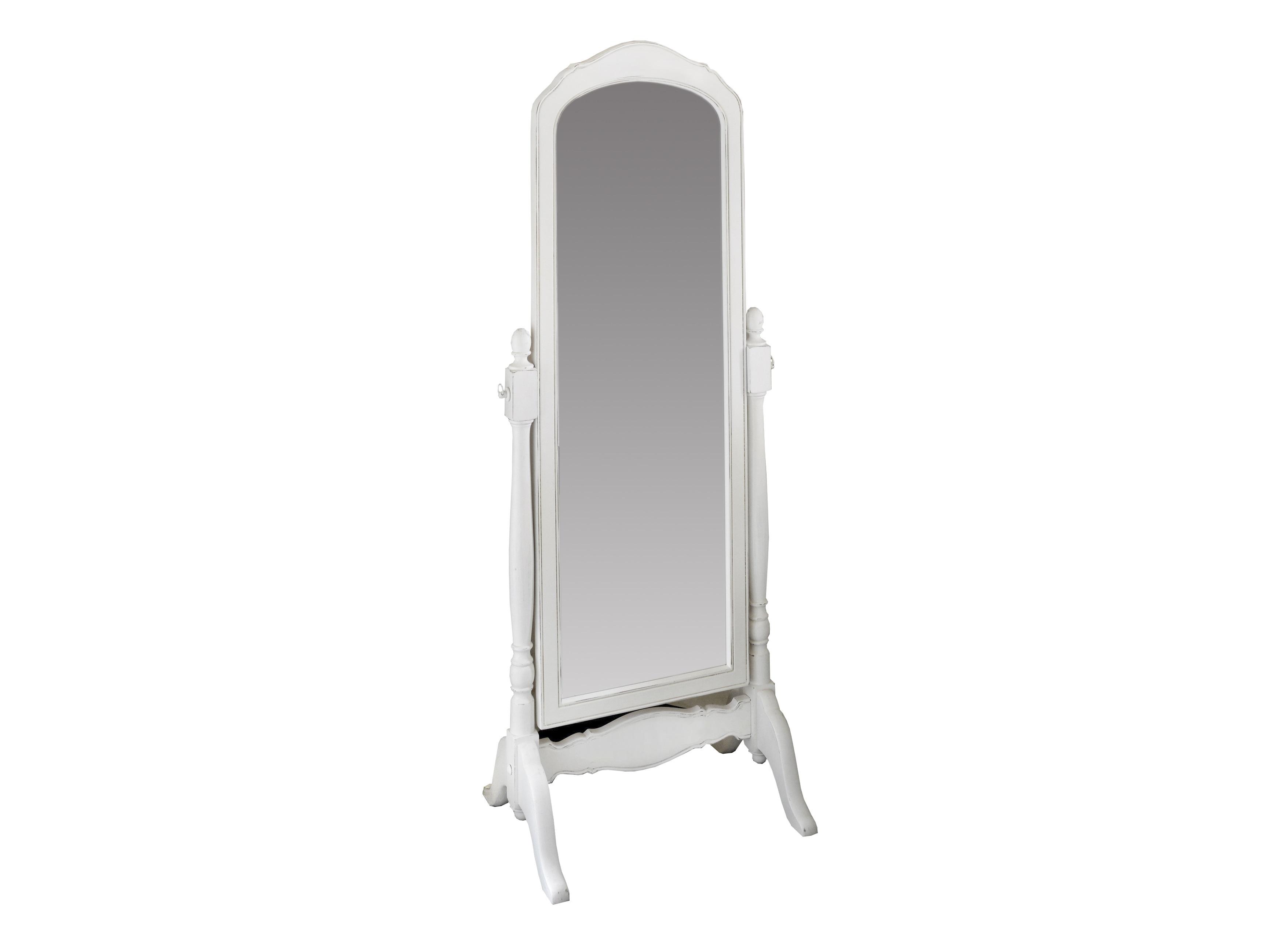 Зеркало напольное Снежный ПровансНапольные зеркала<br>Белая мебель Прованс для гостиной, спальни, столовой, кабинета отлично впишется в Ваш загородный дом. Белая высококачественная мебель &amp;quot;Снежный Прованс&amp;quot; также может послужить в качестве обстановки детской комнаты подростка. Это функциональная удобная мебель европейского качества. Коллекция изготовлена из массива бука (каркасы и точеные элементы мебели) и из высококачественного МДФ (филенчатые части) и соответствует немецким стандартам для детской мебели.<br>Мебель &amp;quot;Снежный Прованс&amp;quot; имеет плавные изогнутые формы и украшена потертым вручную декором в виде оливковой ветви.<br><br>Material: Дерево<br>Length см: None<br>Width см: 67<br>Depth см: 48<br>Height см: 175<br>Diameter см: None