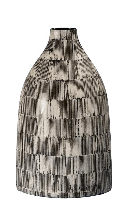 Ваза Loft FarolВазы<br>Ваза для поклонников эко-стиля: естественные цвета, простые формы, она впишется в современный интерьер и станет оригинальным дизайнерским акцентом.<br><br>Material: Керамика<br>Ширина см: 20<br>Высота см: 35<br>Глубина см: 9