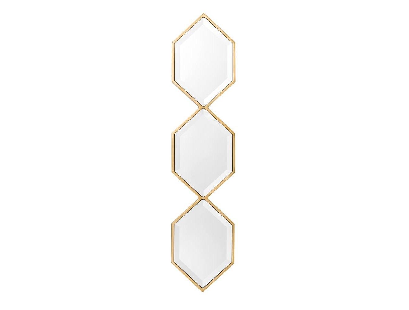 ЗеркалоНастенные зеркала<br>Зеркало Mirror Saronno с оригинальным дизайном. Рамка выполнена из металла золотого цвета.<br><br>Material: Металл<br>Ширина см: 25<br>Высота см: 110