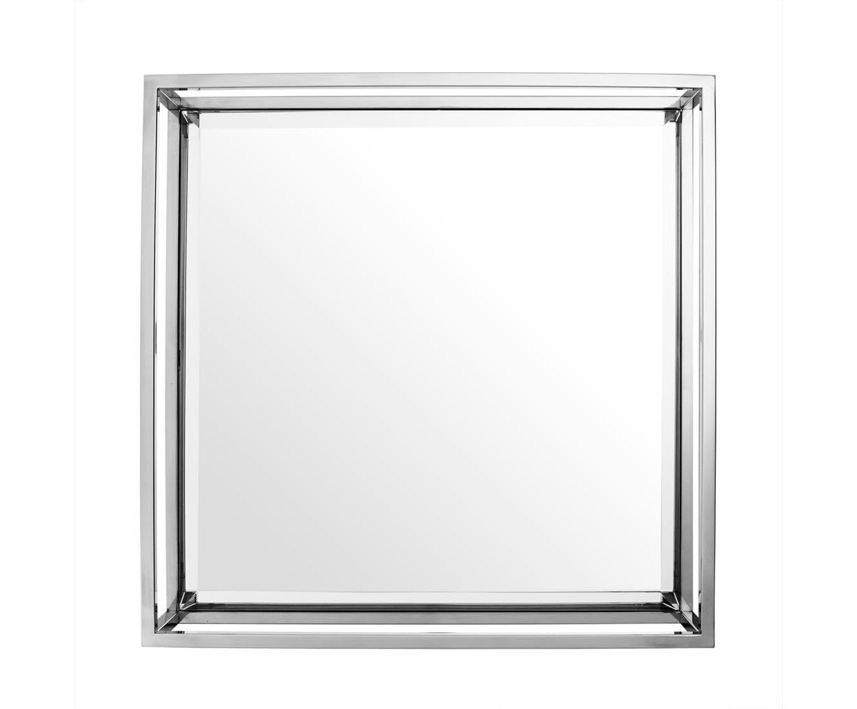ЗеркалоНастенные зеркала<br>Зеркало Mirror Cromwell в рама из полированной нержавеющей стали.<br><br>Material: Сталь<br>Ширина см: 60<br>Высота см: 60<br>Глубина см: 15