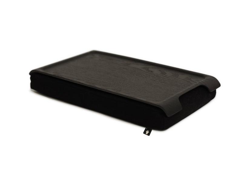 Подставка LaptrayПодставки и доски<br>Такая подставка поможет вам насладиться завтраком в постели, посидеть с компьютером в кресле или с обедом перед телевизором. Очень удобно брать с собой в путешествие, она экономит место благодаря своим габаритам и весу. Сочетание мягкой регулируемой подушки и твердого лакированного подноса делают Laptray удобной для взрослых и детей, которые могут на ней рисовать или лепить из пластилина. Кроме того, эта мини-подставка имеет нескользящую твердую глянцевую поверхность, что обеспечит вашему ноутбуку устойчивость, где бы вы ею ни пользовались – в постели, на диване или кресле. Подушку можно стирать вручную или в стиральной машине,  поднос достаточно протереть влажной салфеткой.<br><br>Material: Дерево<br>Width см: 43<br>Depth см: 23<br>Height см: 6,5