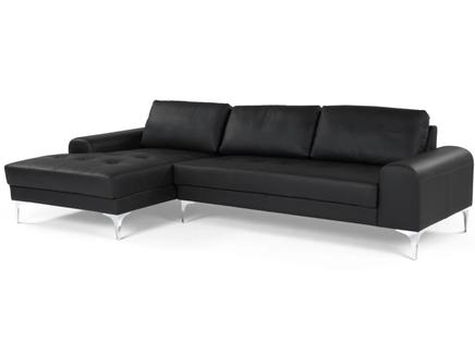 Диван угловой vitto black leather (ml) черный 289x81x151 см.