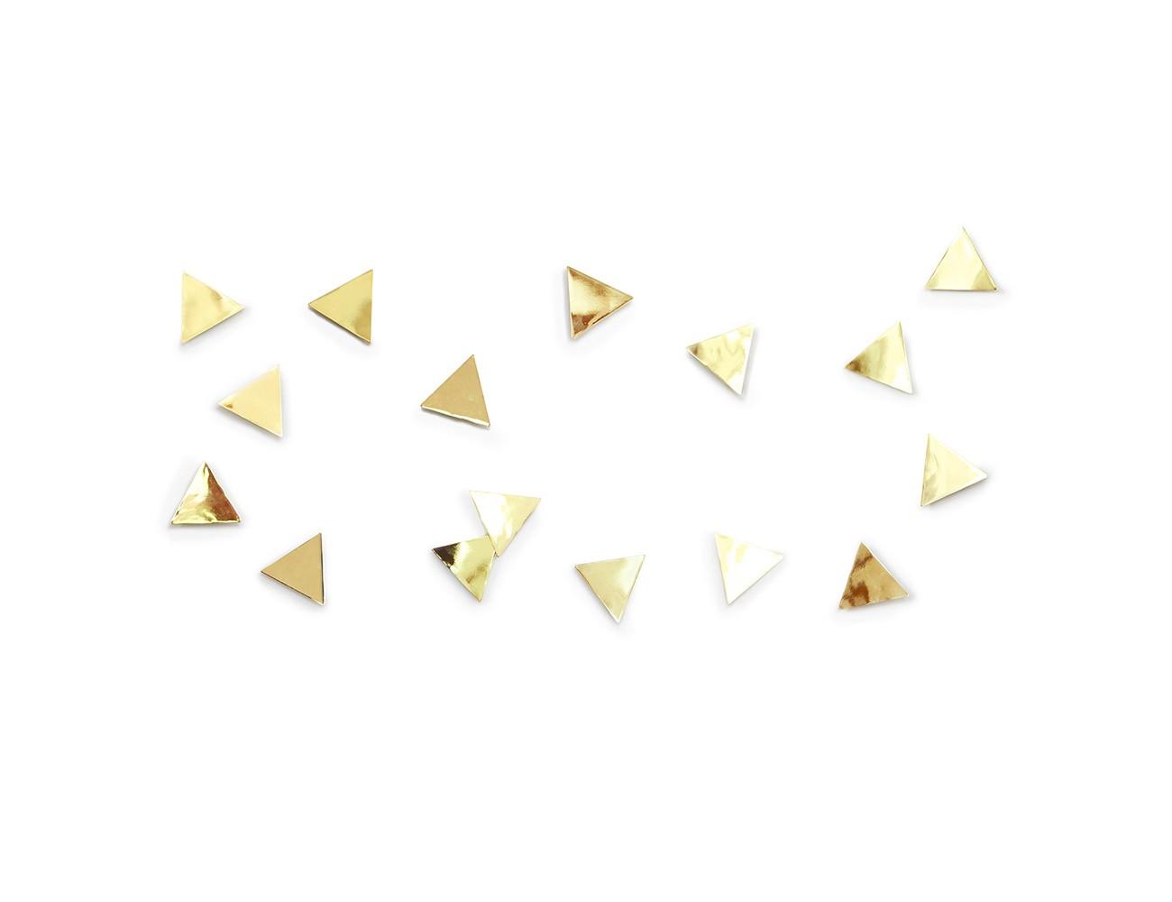 Декор для стен Confetti trianglesДругое<br>Добавьте стенам  немного гламура и блеска! Комплект из 16 металлических полированных треугольных конфетти с покрытием под латунь.Идеальный декор для вечеринок и свадеб, а также незаменимый подарок для творческих натур! Крепятся к стене при помощи липкой ленты 3M Command (входит в комплект).<br><br>Material: Металл<br>Width см: 7,5<br>Depth см: 7,5