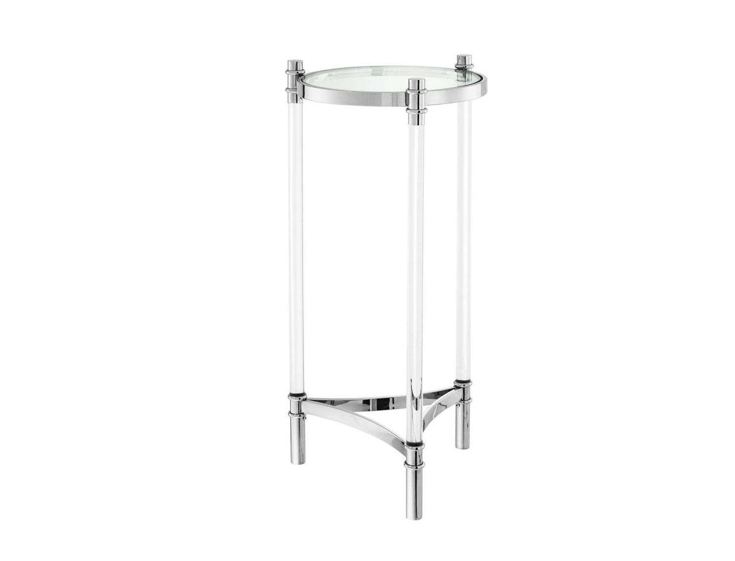 СтолПриставные столики<br>Столик-колонна Column Trento выполнен из полированной нержавеющей стали. Столешница из прозрачного стекла.<br><br>Material: Металл<br>Height см: 90,5<br>Diameter см: 41