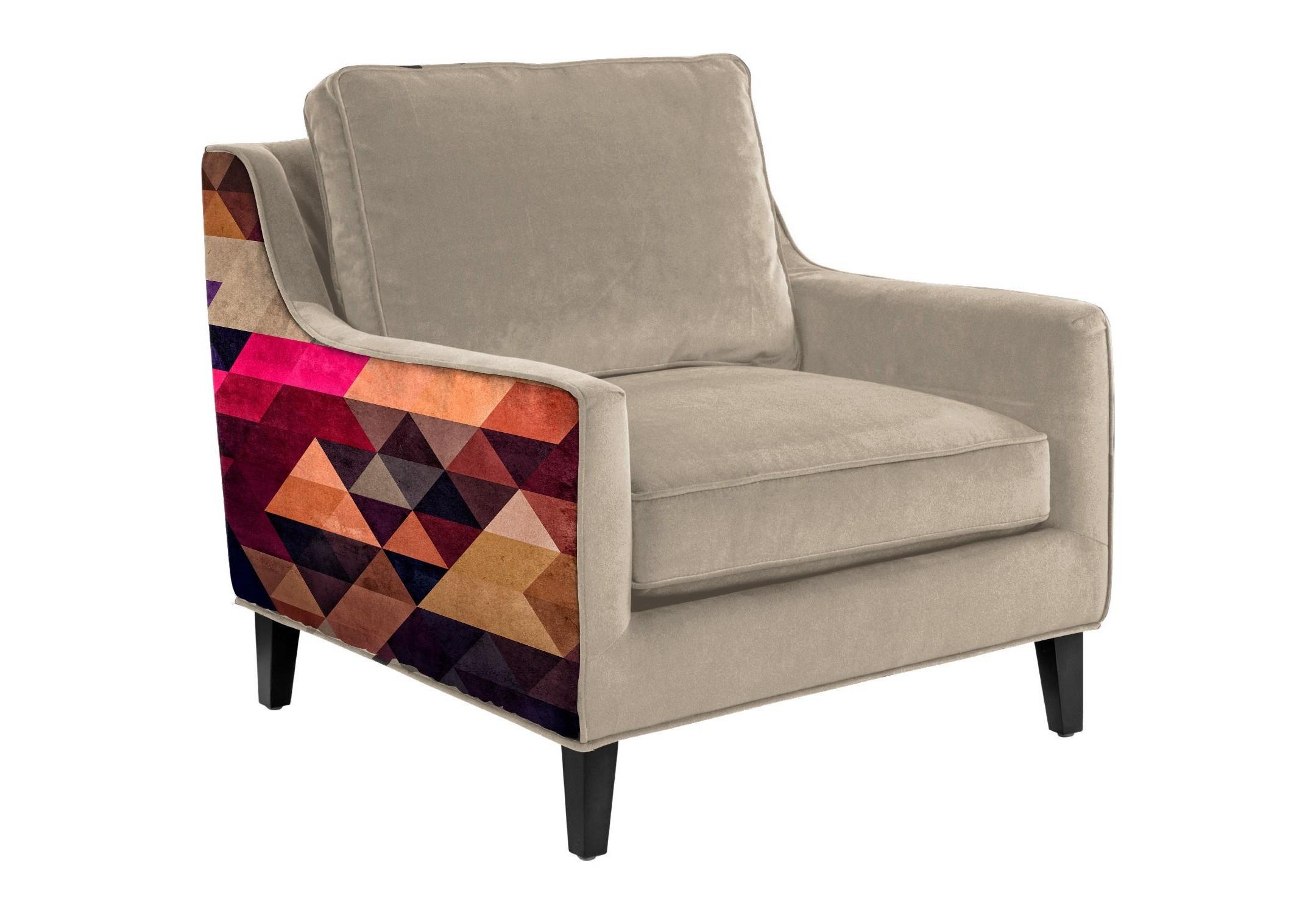 Кресло TriangleИнтерьерные кресла<br>Уникальный дизайн.  Кресло с принтом одного из талантливейших художников- иллюстраторов Джеймса Соареса. Отличительная черта американского художника это абстрактный графический дизайн с сочетанием множества оттенков. Украсит любой интерьер.&amp;amp;nbsp;&amp;lt;div&amp;gt;&amp;lt;br&amp;gt;&amp;lt;/div&amp;gt;&amp;lt;div&amp;gt;Произведено из экологически чистых материалов.&amp;amp;nbsp;&amp;lt;/div&amp;gt;&amp;lt;div&amp;gt;Варианты исполнения: <br>По желанию возможность выбрать ткань из других коллекций.&amp;amp;nbsp;&amp;lt;div&amp;gt;Гарантия: от производителя 1 год.&amp;lt;/div&amp;gt;&amp;lt;div&amp;gt;Материалы: дуб, текстиль.&amp;amp;nbsp;&amp;lt;/div&amp;gt;&amp;lt;div&amp;gt;Более точную информацию уточняйте у менеджера.&amp;lt;/div&amp;gt;&amp;lt;/div&amp;gt;<br><br>Material: Текстиль<br>Ширина см: 90<br>Высота см: 82<br>Глубина см: 95