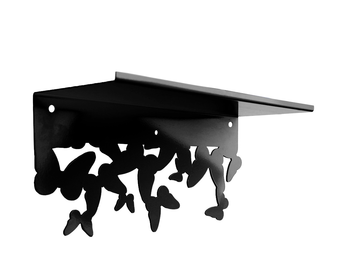 Полка MENSAПолки<br>Модульная полка MENSA - очаровательный предмет декора, который <br>лаконично украсит интерьер спальни, свадебного салона или бутика. <br>Дизайнерский стиль исполнения добавит в обстановку присутствия легкости и<br> романтики. Этот предмет интерьера создан для тех, кто ценит <br>изысканную и уютную обстановку.<br>Полки MENSA изготовленны из стали, в разных цветовых решениях и легко крепятся к стене с помощью обычных дюбелей.<br><br>Material: Сталь<br>Ширина см: 40<br>Высота см: 19<br>Глубина см: 15