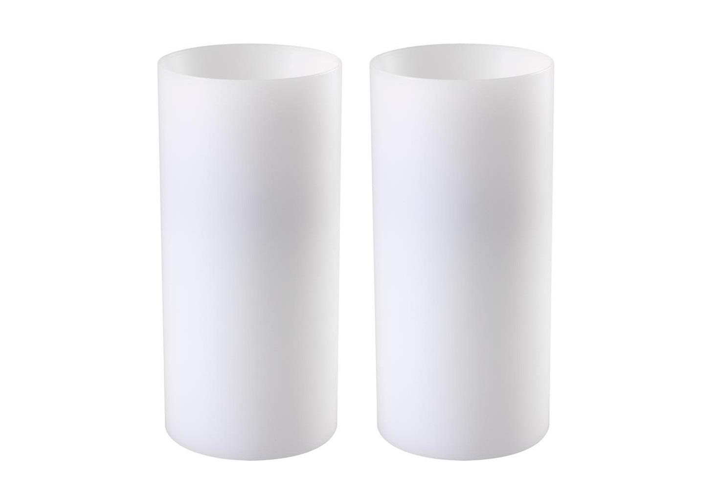 Свеча (2шт)Подсвечники<br>Набор из двух подсвечников Artificial Candle deep set of 2. Имитация большой свечи. Цвет - белый.<br><br>Material: Пластик<br>Height см: 21<br>Diameter см: 10