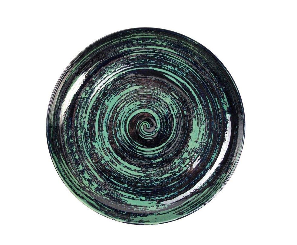 Чаша MaelstromДекоративные чаши<br>Декоративная чаша из керамики с завораживающим спиральным узором. В чаше можно хранить фрукты, различные предметы или любимые украшения. Станет характерным акцентом в интерьере.<br><br>Material: Керамика<br>Length см: None<br>Width см: None<br>Depth см: None<br>Height см: 6.5<br>Diameter см: 43.0