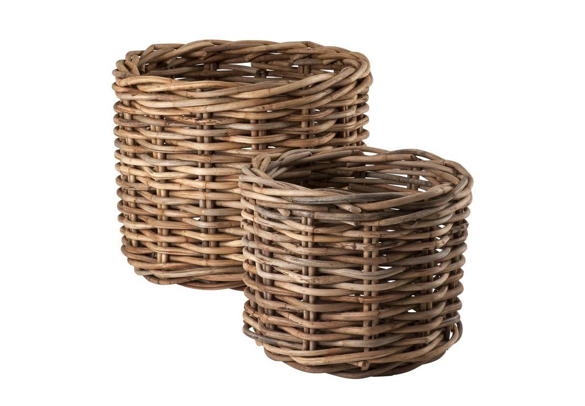Кашпо (2шт)Кашпо и подставки для дачи и сада<br>&amp;lt;span style=&amp;quot;font-size: 14px;&amp;quot;&amp;gt;Набор из двух цветочных клумб Basket Mannar set of 2 из ротанга.&amp;amp;nbsp;&amp;lt;/span&amp;gt;&amp;lt;div style=&amp;quot;font-size: 14px;&amp;quot;&amp;gt;Размеры: 76 x H. 60 cm, 56 x H. 48 cm.&amp;lt;/div&amp;gt;<br><br>Material: Ротанг