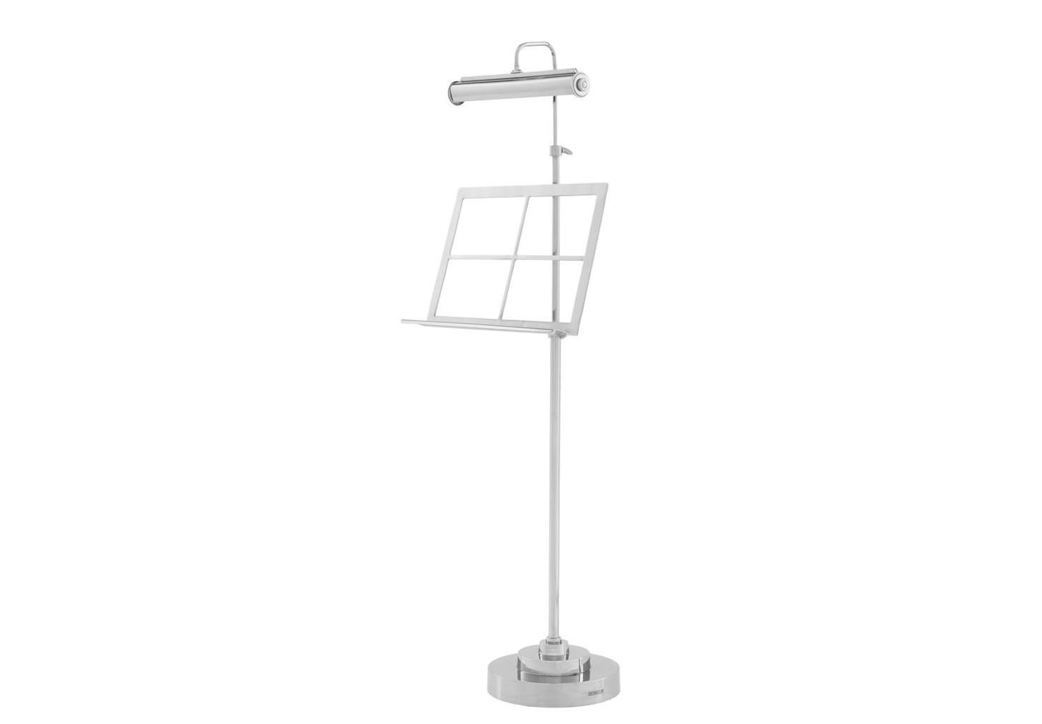 Настольная лампа Stand HigginsДекоративные лампы<br>Лампа для рабочего стола c подставкой для книг Book Stand Higgins с регулируемой лампой. Выполнена из никелированного металла. Высота регулируется от 199 см до 167 см.&amp;lt;div&amp;gt;&amp;lt;br&amp;gt;&amp;lt;/div&amp;gt;&amp;lt;div&amp;gt;&amp;lt;div&amp;gt;Тип цоколя: E14&amp;lt;/div&amp;gt;&amp;lt;div&amp;gt;Мощность: 40W&amp;lt;/div&amp;gt;&amp;lt;div&amp;gt;Кол-во ламп: 2 (нет в комплекте)&amp;lt;/div&amp;gt;&amp;lt;/div&amp;gt;<br><br>Material: Металл<br>Ширина см: 26<br>Высота см: 167<br>Глубина см: 25