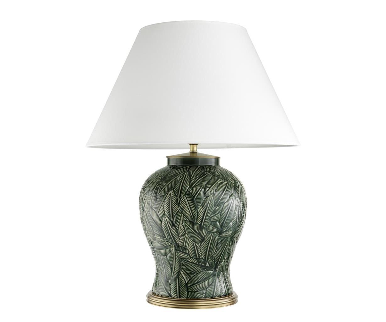 Настольная лампаДекоративные лампы<br>Настольная лампа Table Lamp Cyprus с вазой из керамики зеленого цвета. Текстильный белый абажур скрывает лампу.&amp;lt;div&amp;gt;&amp;lt;br&amp;gt;&amp;lt;/div&amp;gt;&amp;lt;div&amp;gt;&amp;lt;div&amp;gt;Тип цоколя: E27&amp;lt;/div&amp;gt;&amp;lt;div&amp;gt;Мощность: 40W&amp;lt;/div&amp;gt;&amp;lt;div&amp;gt;Кол-во ламп: 1 (нет в комплекте)&amp;lt;/div&amp;gt;&amp;lt;/div&amp;gt;<br><br>Material: Керамика<br>Высота см: 85