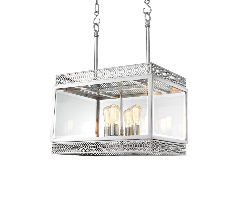 Подвесной светильникПодвесные светильники<br>Подвесной светильник Chandelier Roma S с оригинальным дизайном выполнен из никелированного металла. Створки плафона из прозрачного стекла. Высота светильника регулируется за счет звеньев цепи. Лампочки из серии Bulb&amp;amp;nbsp;представлены на нашем сайте и приобретаются отдельно.&amp;lt;div&amp;gt;&amp;lt;br&amp;gt;&amp;lt;/div&amp;gt;&amp;lt;div&amp;gt;&amp;lt;div&amp;gt;Тип цоколя: E14&amp;lt;/div&amp;gt;&amp;lt;div&amp;gt;Мощность: 40W&amp;lt;/div&amp;gt;&amp;lt;div&amp;gt;Кол-во ламп: 4 (нет в комплекте)&amp;lt;/div&amp;gt;&amp;lt;/div&amp;gt;<br><br>Material: Металл<br>Width см: 60<br>Depth см: 42<br>Height см: 84